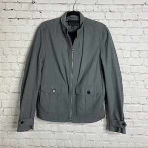Banana Republic Men's Jacket Gray Zip Mock Neck